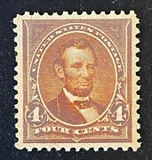 Us Stamps, Scott 280b 1898 4c Lincoln 2006 Pse Cert Gc Xf/s 95 M/nh. Choice