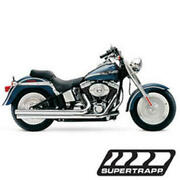 Exhaust Mean Mothers Drag Pipes - Long Sup. 138-72574 For 86-11 Harley Softail