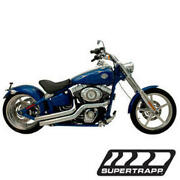 Mean Mothers Side Swipes Exhaust - Chrome 138-72578 08-11 Harley Softail Rocker
