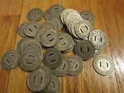 Transit Tokens 25 Mobile City Lines Good For One Fare Vintage 25 Bus Tokens