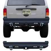 Rear Bumper Fits 1984-2001 Jeep Cherokee Xj With Led Lights