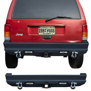 Rear Bumper For 1984-2001 Jeep Cherokee Xj With Led Lights