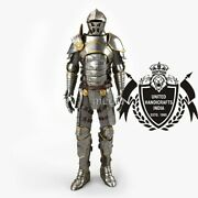 Full Body Armor Suit With Chain Mail Wearable Medieval Plate Arm Limited Edition