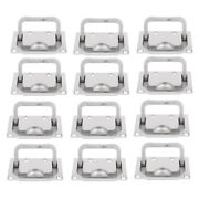 12 Pack Marine Stainless Steel Boat Hatch Latch Flush Lift Pull Handle