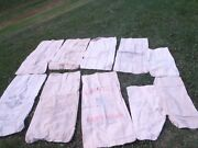 Vintage Large Burlap Bags,advertising Feed,seed Sack,mixed Lot ,10 Pieces