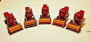 1967 5 Matchbox Lesney Claas Combine Harvesters 65 Red Great Value Lot