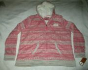Sonoma Life+style Sherpa Lined Hooded Sweatshirt Womanand039s Size Xl Polyester Nwt