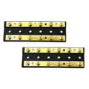 Pack Of 2 Boat Marine Circuit Terminal Block Brass Bus Bar 60a Dc 32v Busbar For