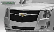 Grille Overlay Insert For 15-20 Cadillac Escalade Black Steel W/ Camera Cut Out