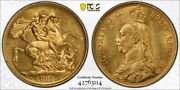 Great Britain Gold Andpound2 Pounds 1887 Queen Victoria Lustrous Uncirculated Pcgs Ms62