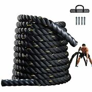 Battle Rope For Exercise 1.5 Inch Heavy Battle Training Rope 30ft Workout Rope F