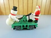 Vintage Lionel O Scale Hand Car Santa And Snow Man Pre-owned As Is