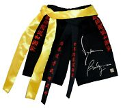 Jean Claude Van Damme And Bolo Yeung Autographed Bloodsport Trunks Asi Proof