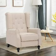 Wingback Recliner Chair- Accent Chair Push Back Chair For Living Room Bedroom