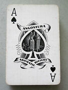 Vintage Playing Cards 52 Deck Angostura Aromatic Bitters Advert Spade Ace 1952