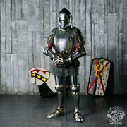 Churburg Style Medieval Full-plate Armor Reenactment Of Historical Fencing Set