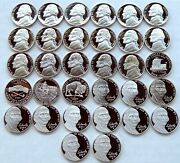 Beautiful Bu Jefferson Nickel Collection 1938-2021pandd 70 Proofs 1952 To 2021s