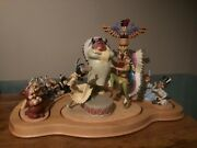 Peter Pan Indian Campground Fireside Celebration Set Wdcc