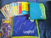 Leapfrog Leap Pad Learning System 13 Books And Cartridges Frog Backpack Phonics
