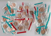 1968 P D And S Lincoln Cent Mixed Roll51 Coins In Mint Cello