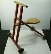 Plakie Toys Ride On Toy 4 Wheel Bike Wood Youngstown Oh 1940s - 1950s Rare Htf