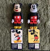 Be@rbrick100 Series 17 Animal Mickey Mouse Front / Back Discontinued Used F/s