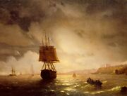 Oil Painting Handpainted On Canvas The Harbor At Odessa On The Black Sealn4820