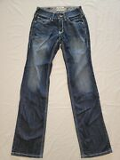 Ariat Women's Real Riding Jeans Boot Cut Size 25r Low Rise Dark Wash