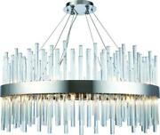 Dallas Hanging Lamp Pendant Contemporary 18-light Adjustable Height Crys