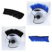 2pcs Motorcycle Adhesive Helmet Mohawk Hair Patches Skinhead Costumes Wig