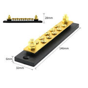 Large Current Dc 48v Brass Bus Bar With 10 Screws For Truck Cars Yachts Ship