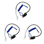 3x Boat Engine Safety Cut Off Emergency Kill Stop Switch Lanyard For Yamaha