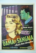 Lady From Shanghai Rita Hayworth Orson Welles 1947 Unique Rare Exyu Movie Poster