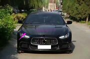 Front Engine Hood Bonnet Cover Trim Fit For Maserati Ghibli 2014-2017