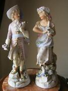 Original Antique Porcelain Figurine Couple Conta And Amp Germany 1840-1890 Marked