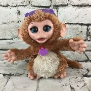 Fur Real Friends Baby Cuddles My Giggly Monkey Tiger Electronics Animated Plush