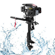 6hp 4 Stroke Outboard Motor Marine Shaft Boat Engine Air Cooling Hand Heavy Duty