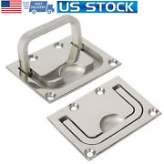 2x Stainless Steel Marine Boat Flush Mount Lifting Pull Hatch Lift Ring Handle