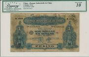 Banque Industrielle De Chine China 1 1914 Repaired Good Vf, Rare. Low No
