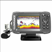 Lowrance Hook2 4x Fish Finder With Bullet Skimmer Transducer Auto Tuning Sonar