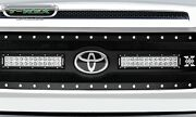 """Replacement Black Grille For 2018-2021 Tundra 2x 12"""" Led Chrome Studs W/o Camera"""