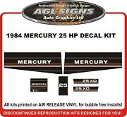 1984 1985 Mercury 25 Xd Hp Reproduction Outboard Decals 18 Xd Hp Also