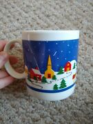 Christmas Village With Decorated Trees And Gifts Around Them Coffee Mug