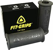 Core Prodigy Fit Grips Thick Bar Bodybuilding Training Black 1.75 Inch