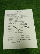 Signed In Person Zz Top 2003 Cleveland Oh Production Schedule Tour W/ Ted Nugent