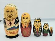 Vintage Russian Nesting Dolls Collectibles Antiques Hand Crafted Dolls