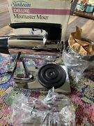 Vintage Sunbeam Deluxe Mixmaster Chrome Stand Mixer 12 Speed In Box