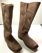 Indian Wars Us Union M1872 Cavalry Horse Riding Brown Leather Boots-size 10