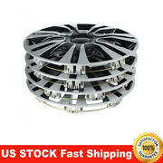 4 X Universal 14 Hard Plastic And Metal Car Wheel Cover Hubcaps Auto Decoration