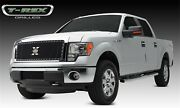 Black Grille Overlay Insert Chrome Studs For 2013-2014 Ford F150 Steel Wire Mesh